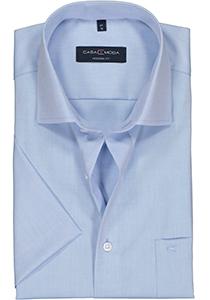 Casa Moda Modern Fit overhemd, korte mouw, lichtblauw