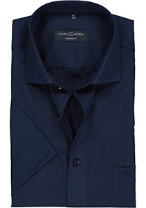 Casa Moda Modern Fit overhemd korte mouwen, donker blauw