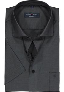 Casa Moda Modern Fit overhemd, korte mouw, antraciet