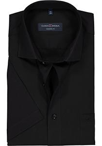 Casa Moda Modern Fit overhemd, korte mouw, zwart