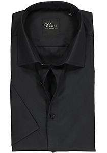 Venti Modern Fit overhemd, korte mouw, zwart