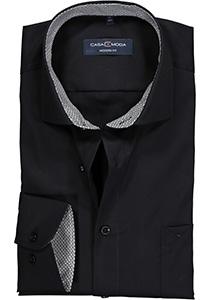 Casa Moda Modern Fit overhemd, zwart (contrast)