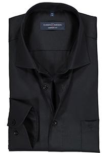 Casa Moda Comfort Fit overhemd, zwart twill