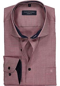 Casa Moda Modern Fit overhemd, rood-blauw structuur (contrast)