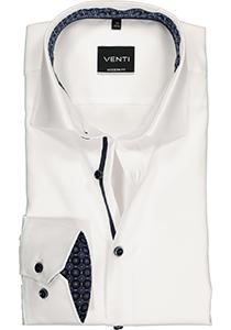 Venti Modern Fit overhemd, wit structuur (contrast)