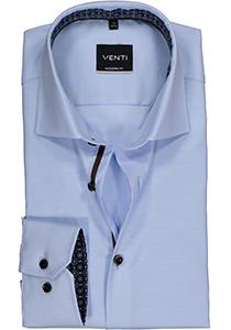 Venti Modern Fit overhemd, lichtblauw structuur (contrast)