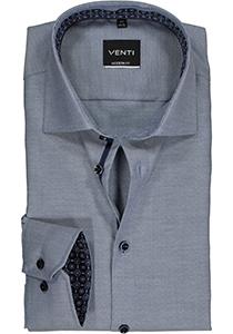 Venti Modern Fit overhemd, blauw structuur (contrast)