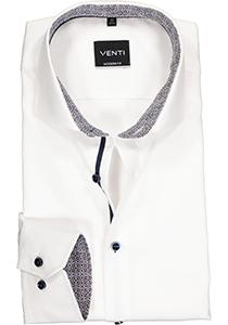 Venti Modern Fit overhemd, wit twill (contrast)