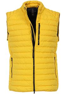 Casa Moda Comfort Fit bodywarmer (middeldik), geel met zwarte ritsen