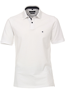 Casa Moda Comfort Fit poloshirt stretch, wit