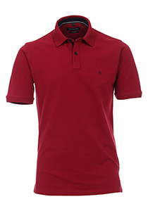 Casa Moda Comfort Fit poloshirt stretch, bordeaux rood