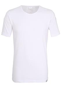 Gotzburg heren T-shirt slim fit O-hals 95/5 (1-pack), heren ondershirt stretchkatoen, wit