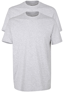 Gotzburg heren T-shirts Regular Fit O-hals (2-pack), grijs