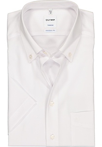 OLYMP Tendenz modern fit overhemd, korte mouw, wit (button-down)