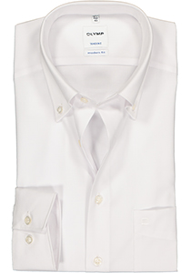 OLYMP Tendenz modern fit overhemd, wit button-down
