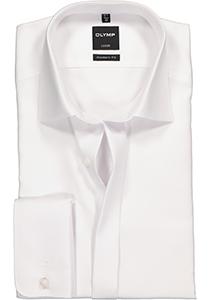 OLYMP Luxor Modern Fit overhemd, Smoking overhemd, wit, structuur stof  (Kent kraag)