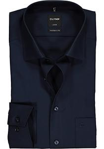 OLYMP Luxor Modern Fit overhemd, donkerblauw