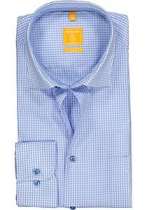 Redmond Modern Fit overhemd, lichtblauw geruit