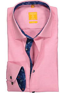 Redmond Modern Fit overhemd, roze structuur (contrast)