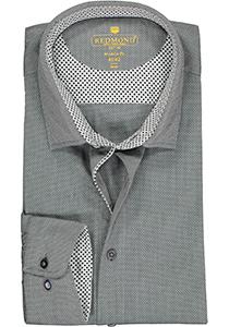 Redmond modern fit overhemd, structuur, antraciet (contrast)
