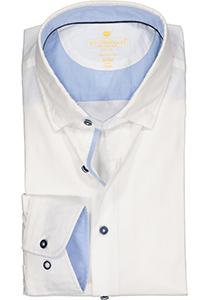 Redmond modern fit overhemd, twill, wit (contrast)