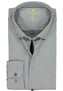 Redmond modern fit overhemd, twill, antraciet grijs (contrast)