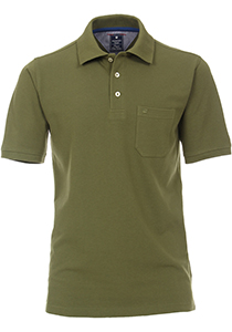 Redmond Regular Fit poloshirt, army groen