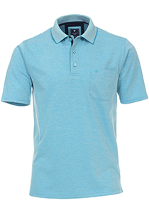 Redmond Regular Fit poloshirt, turquoise melange