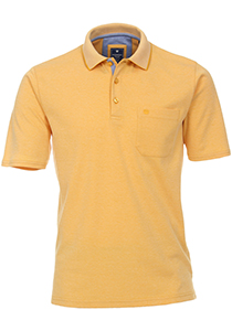 Redmond Regular Fit poloshirt, geel melange