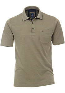 Redmond Regular Fit poloshirt, kaki melange