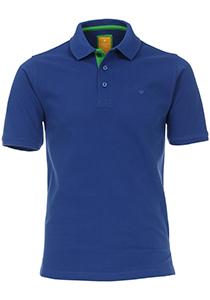 Redmond Modern Fit poloshirt, blauw (groen contrast)