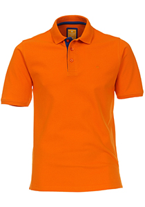 Redmond Modern Fit poloshirt, oranje (blauw contrast)