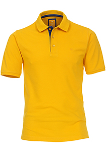 Redmond Modern Fit poloshirt, geel (blauw contrast)