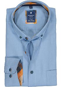 Redmond regular fit overhemd, Oxford, lichtblauw (contrast)
