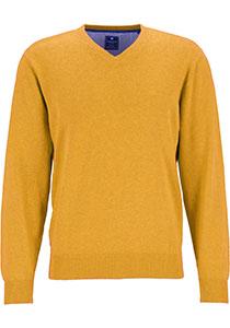 Redmond heren trui katoen, V-hals, geel