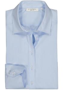 Eterna dames blouse Slim Fit stretch, lichtblauw