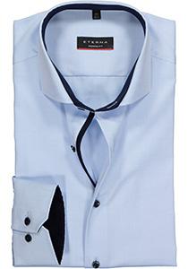 ETERNA Modern Fit overhemd ondoorzichtig, lichtblauw twill (contrast)