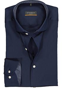 ETERNA Slim Fit overhemd, blauw superstretch (contrast)