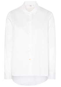 ETERNA 1863 dames blouse A-lijn, twill satijnbinding, wit