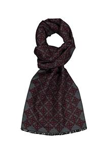 ETERNA herensjaal zijde, bordeaux - grijs dessin