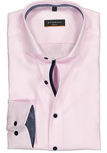 ETERNA Slim Fit overhemd, roze twill (contrast)