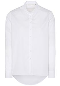 ETERNA dames blouse modern classic, wijder en langer model, wit