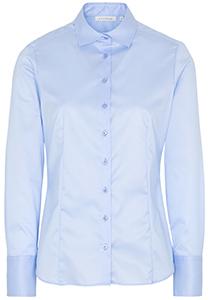 ETERNA dames blouse modern classic, lichtblauw