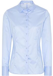 ETERNA dames blouse slim fit, lichtblauw