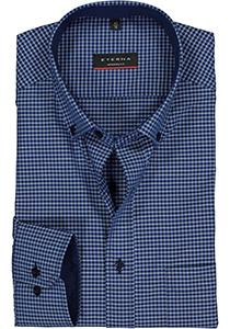 Eterna Modern Fit overhemd, blauw geruit (contrast)