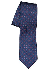 ETERNA stropdas, blauw met rood dessin
