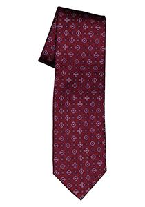 ETERNA stropdas, bordeaux rood met lichtblauw dessin