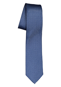 ETERNA smalle stropdas, blauw structuur