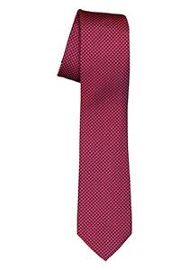 ETERNA smalle stropdas, rood met blauw structuur