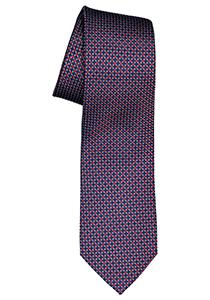 ETERNA stropdas, blauw met rood structuur